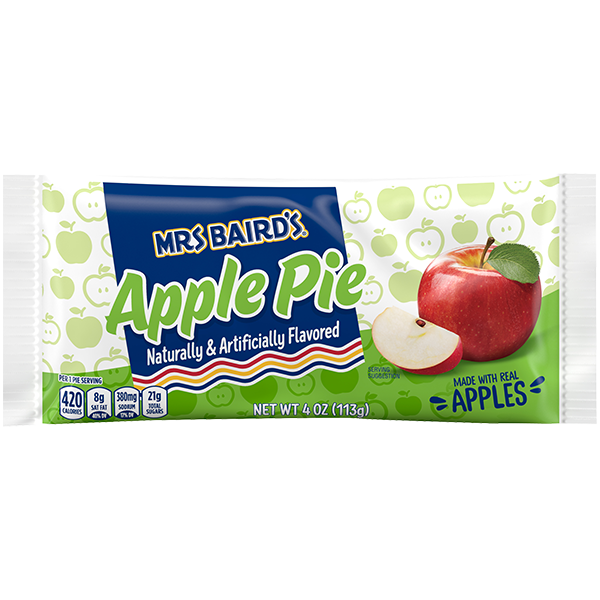A single-serve package of Mrs Baird's Apple Pie