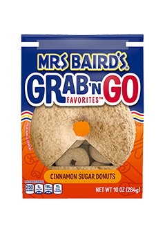 A grab-and-go bag Mrs Baird's Cinnamon Sugar Donuts