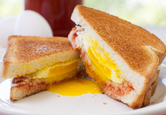 Mrs Baird's four-ingredient Italian Egg Sandwich served on a white plate