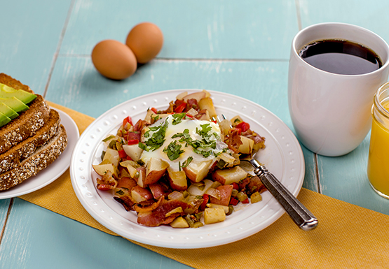 Texas Breakfast Hash with Toast